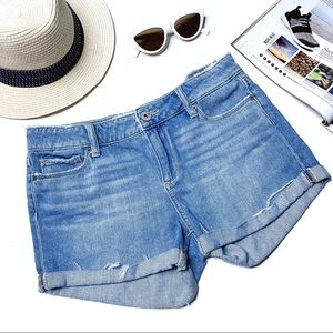 Paige Jimmy Jimmy Strat Cutoff Denim Shorts 27